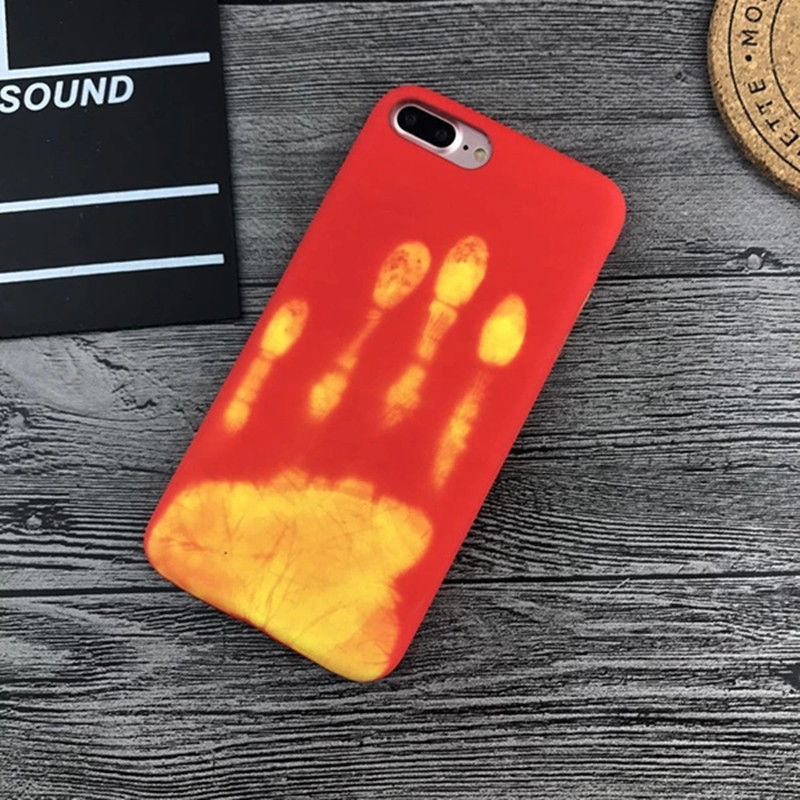 Thermal Sensor Case for IPhone 6 8 XR X XS 7 6s Plus Heat Induction Phone Cover Heat Induction Phone Fundas Protective Cover in Fitted Cases from Cellphones Telecommunications