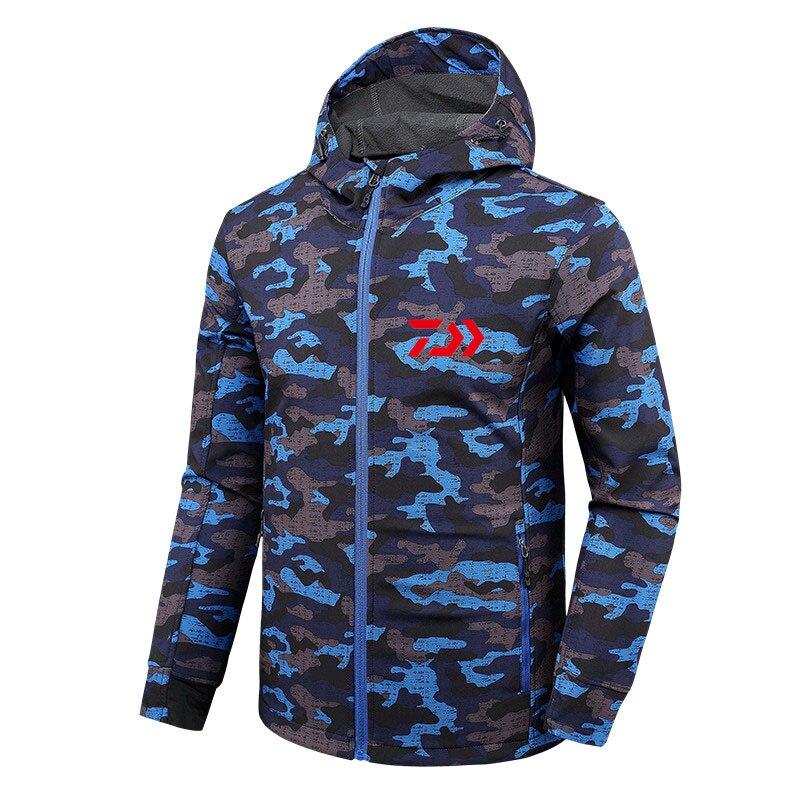 Image 2 - 2018 дайв Рыбалка рубашки Осень Зима теплые уличные куртки для рыбалки Спорт флис с капюшоном одежда для рыбалки-in Одежда для рыбалки from Спорт и развлечения