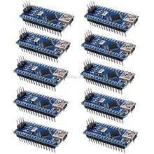 10 sztuk/partia USB Nano V3.0 ATmega328P CH340G 5 V 16 M sterownik mikro zarząd na Arduino