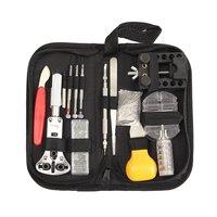 144pcs/set Professional Watch Repair Tool Kit With Storage Bag Case Holder Transparent Link Pin Remover Tweezer Set