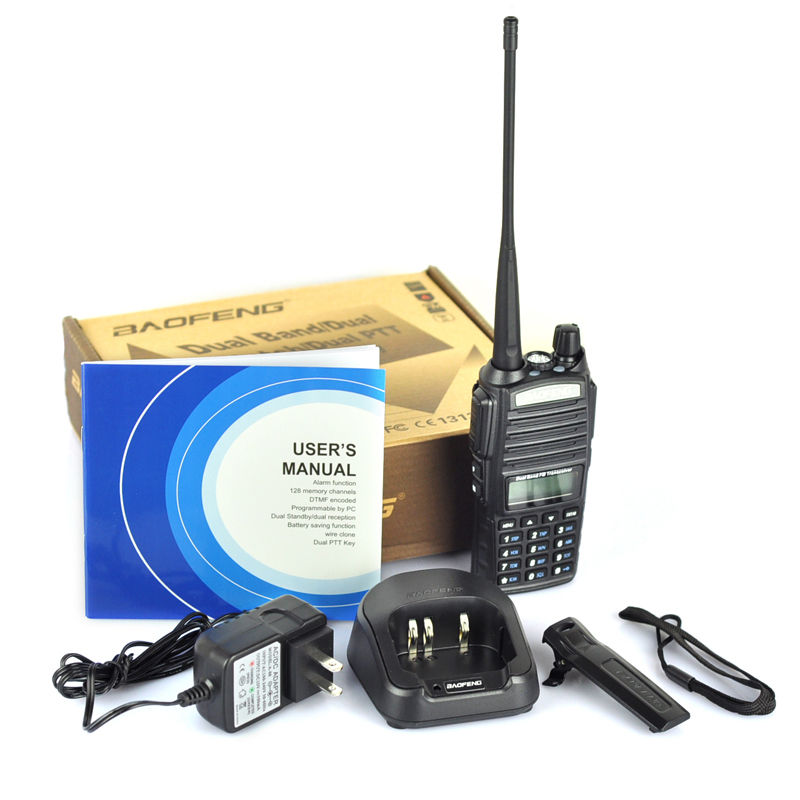 100% nuevo baofeng autorizado 5 W banda dual 128 canales bidireccionales Radios baofeng uv82 jamón Radios transceptor