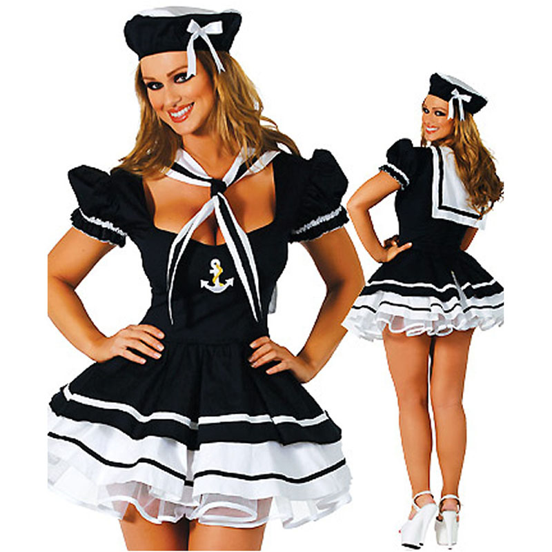 <font><b>Women</b></font> Sailor Costume <font><b>Adult</b></font> <font><b>Sexy</b></font> Navy Sailor Cosplay Costumes for <font><b>Halloween</b></font> Costume Party Dress <font><b>Women</b></font> <font><b>Sexy</b></font> Navy Sea Outfit image