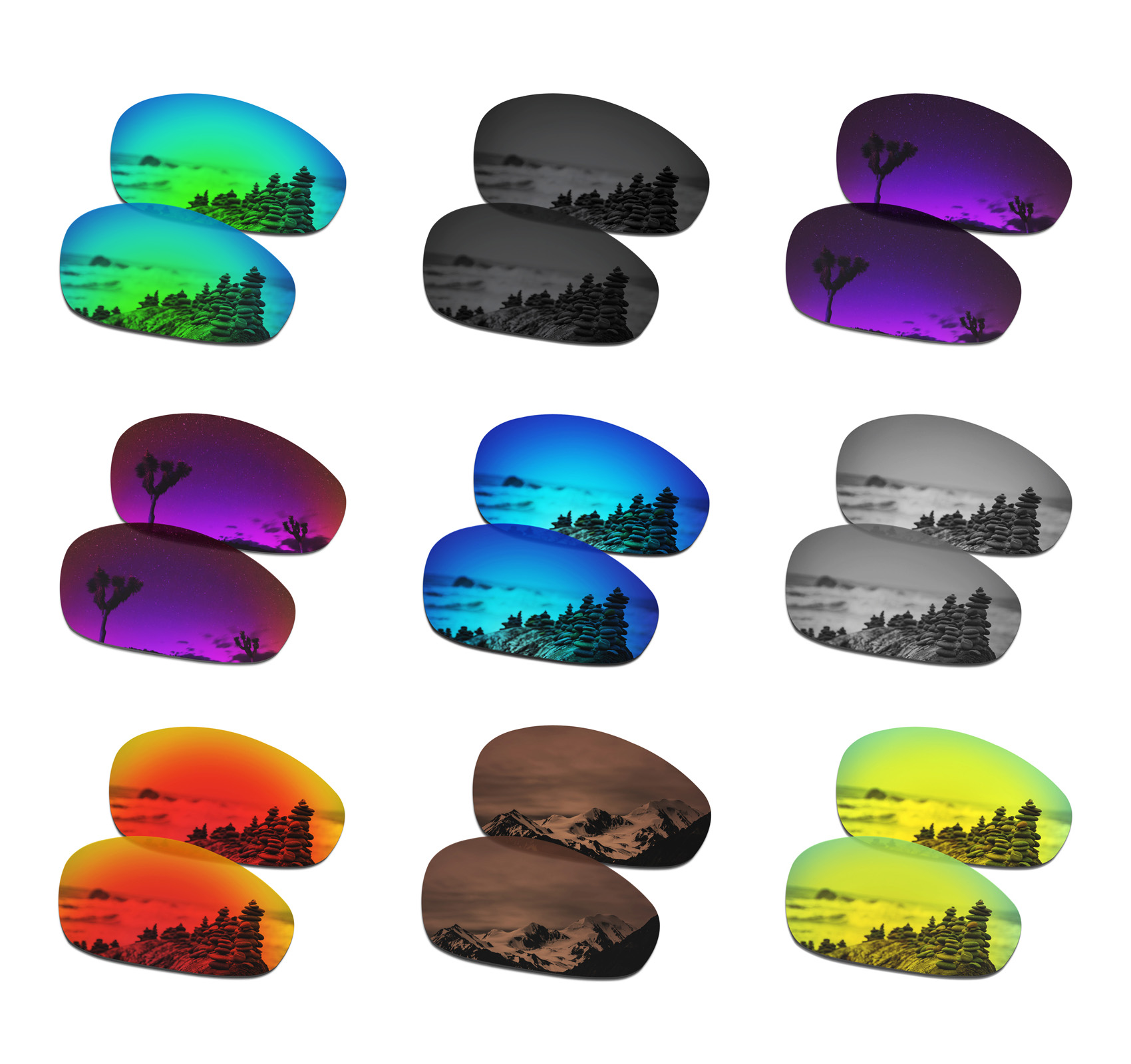 SmartVLT Polarized Replacement Lenses For Oakley Juliet Sunglasses - Multiple Options