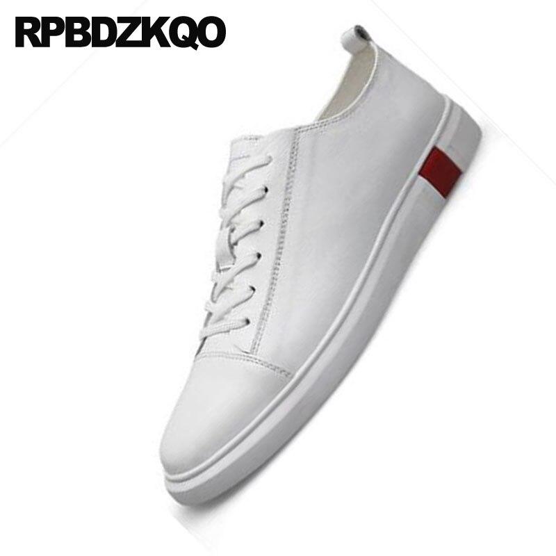 2018 Patinar Andando branco Plus blue 46 Sapatos Respirável Sneakers Condução Branco Designer De Size Formadores Conforto Preto Clássico Primavera Britânicos Casuais PPH1KSR