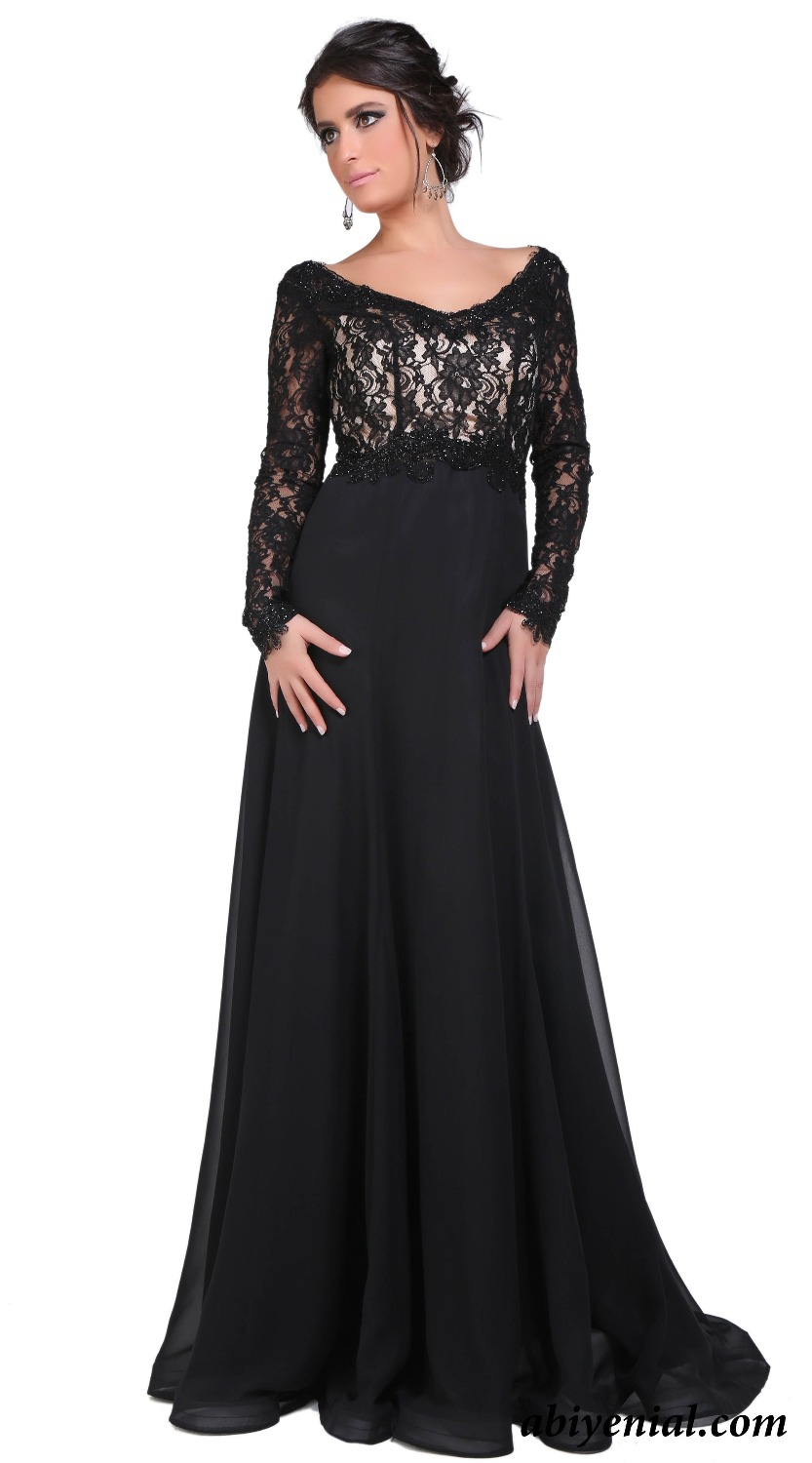 Elegant long evening dress black lace mother formal evening elegant long evening dress black lace mother formal evening dresses long sleeve empire maternity prom party gown vestido bam04 in evening dresses from ombrellifo Gallery