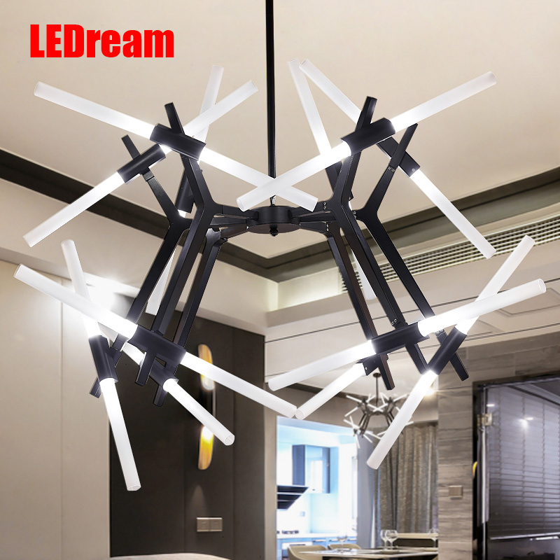 Postmodern branches herringbone branch dining-room lamp Fashion creative personality LED droplight sitting room ledream contracted and creative personality sitting room dining room art glass chandelier american cherry branches pendent lamp