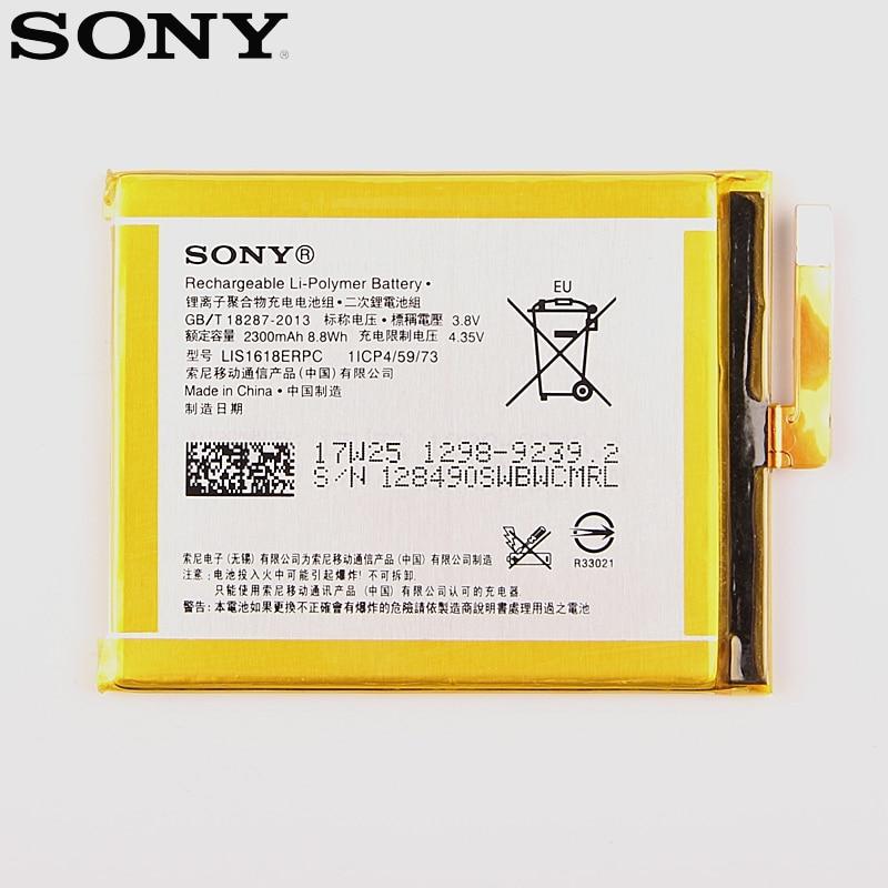 Original Replacement Sony Battery For For SONY Xperia E5 Xperia XA F3113 LIS1618ERPC Genuine Phone Battery 2300mAh
