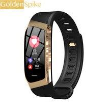 Relógio inteligente Novo E18 Pulseira Monitor de Freqüência Cardíaca Monitor de Rastreador De Fitness Vida À Prova D' Água Esportes Relógio de Pulso para Android e IOS