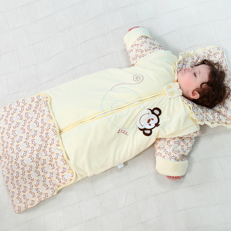 Thicken Cotton Baby Sleeping Bag Anti Kick Quilt Spring Autumn Winter Warm Envelopes For Newborns Soft