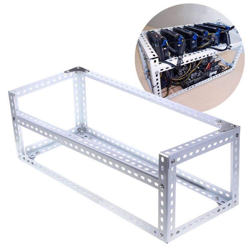 Computer Mining Miner Frame DIY Stackable Rig Bitcoin BTC Fame Case Server Chassis For 6 Graphics Card GPU ETH BTC Ethereum open air mining rig stackable computer mining frame case 10 led fans for 14 gpu eth btc ethereum frame case server chassis