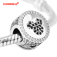 Fits for Pandora Bracelets Mouse Icon Beads 100% Authentic 925 Sterling Silver Charms Fine Jewelry Free Shipping