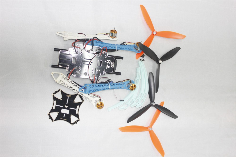 F08191-E DIY Drone Quadcopter Upgraded Kit S500-PCB 1045 3-Propeller 4axle Multi-rotor UFO No Battery / Charger / RX / TX + FS jmt diy drone f550 multi rotor full kit 1045 3 props 6 axle rc multi hexac