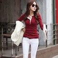 WJ Autumn Korean Fashion Women Long Sleeve White Blouses Button Cotton Shirts Casual Sexy Slim Bodycon Tops Sweater Blouse