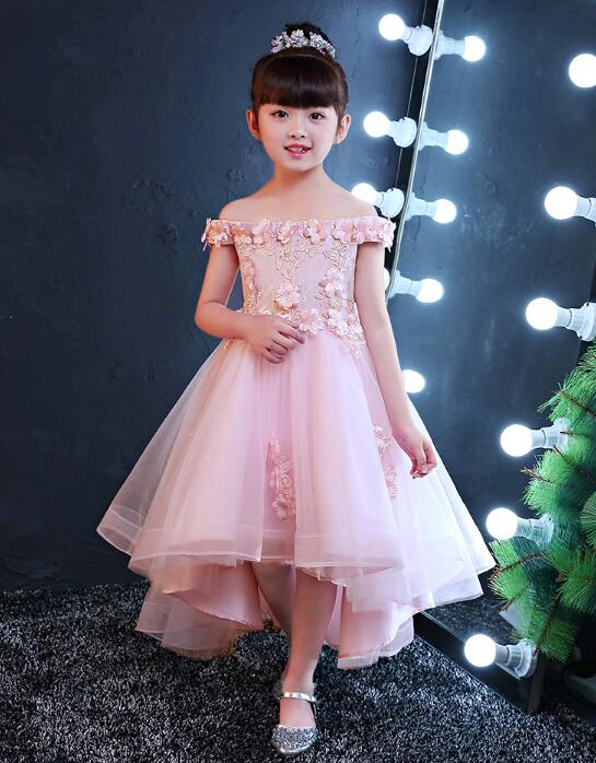 2017 New Shoulderless Flower Girls Dresses For Wedding Appliques Formal  Girl Birthday Party Dress Red Lace Princess Ball Gown - aliexpress.com -  imall.com d0bc27e14be6
