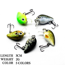 LUREASY 5pcs Minnow Fishing Lure 3cm 2g Crank Hard Bait artificial Wobblers  jigging lure set