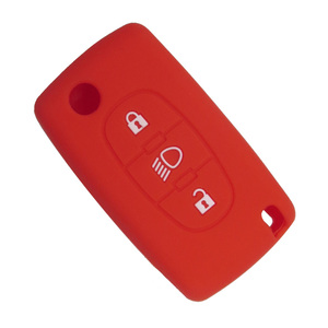 Image 5 - OkeyTech 3 düğmeler yumuşak silikon kauçuk araba anahtar kapağı kılıfı kabuk cilt koruyucu Fob Citroen C2 C3 C4 Picasso Xsara C5 c6 C8