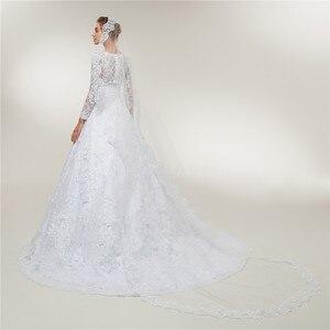 Image 3 - Fansmile Vestido De novia De encaje De manga larga, vestidos De novia hechos a medida, De talla grande, FSM 403T, 2020