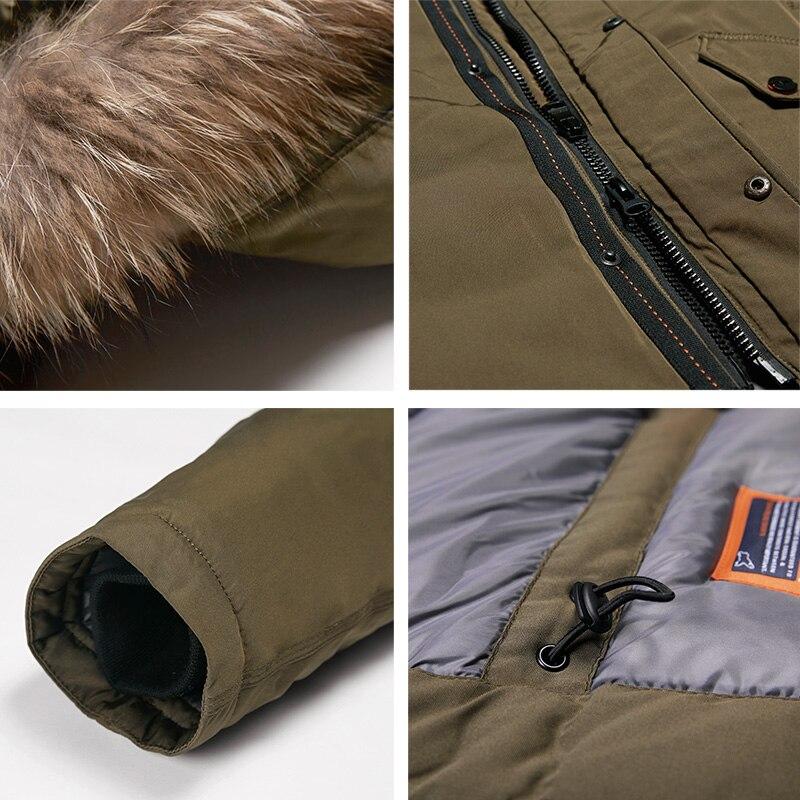 ICEbear 2019 homme chaud hiver marque veste de luxe détachable col roulé col roulé coupe-vent concis confortable poignets 17MD903D - 5