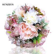 Розовые настоящие цветы пионы букеты для свадьбы Свадебные центральные