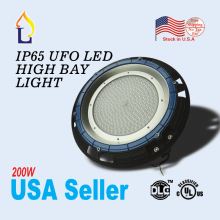 1pc/lot UL/DLC led UFO high bay light lamp 200W Industrial AC100-277V ip65 5 years warranty ufo ceiling USA
