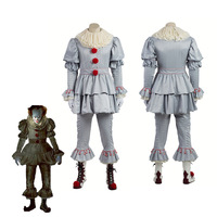 Stephen King Cosplay Costume Pennywise Costume Clown Costume Halloween Costumes For Men Custom Made Outfit Suit