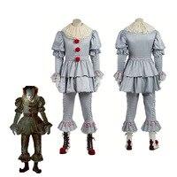 Stephen King It Cosplay Pennywise Costume Da Clown Costume Costumi di Halloween Per Gli Uomini Custom Made Outfit Suit