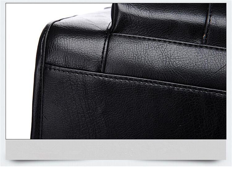 New Luxury Cow Genuine Leather Business Men's Briefcase Male Shoulder Bag Real Leather Men Messenger Bag Travel Computer Bag
