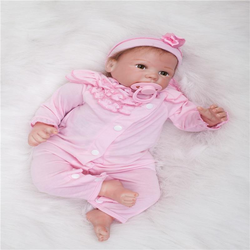20 pouces 50 cm Silicone bébé reborn poupées, réaliste poupée reborn mignon bébé garçons et filles cadeaux de vacances