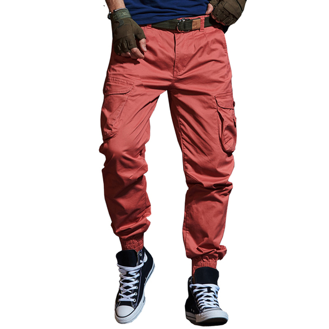 Drop shipping 2018 Autumn Tactical Men's Cargo Pants Casual Multi Pocket Military Pants Long Trousers 29-38 AXP127