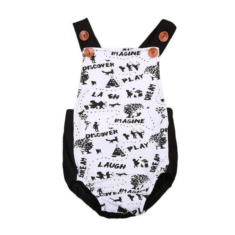 Newborn Baby Boys Girls Toddler Romper Bodysuit Jumpsuit Outfits Sunsuit Clothes