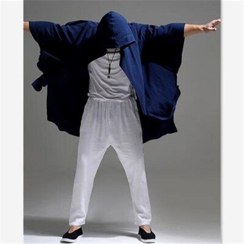 e6fb722997de Linen Trench Coat Men Summer Thin Long Trench Coat Hooded Cardigan Loose  Casual Arabic Robes Men s Hooded Cardigans Coat-in Trench from Men s  Clothing on ...