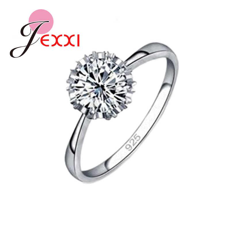 גבוהה באיכות 925 סטרלינג תכשיטי כסף קלאסי אירוסין טבעת 4 גודל AAA CZ טבעת תכשיטי לאישה משלוח חינם