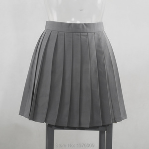 Image 3 - تنورات نسائية ذات ثنيات رمادية تنورة ذات ثنيات لفصل الصيف زي مدرسي ياباني تنورات نسائية متناسقة