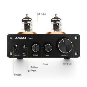 Image 3 - AIYIMA Bluetooth 5.0 HiFi 6J1 Tubo A Vuoto Amplificatore Preamplificatore Stereo Preamplificatore Con Alti Bassi di Controllo Per La Casa Suono Theater