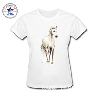 2017 Misty Horse Fashion Summer Style Cotton Funny T Shirt Women