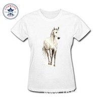 2017 Misty Horse Fashion Summer Style Cotton Funny T Shirt Women