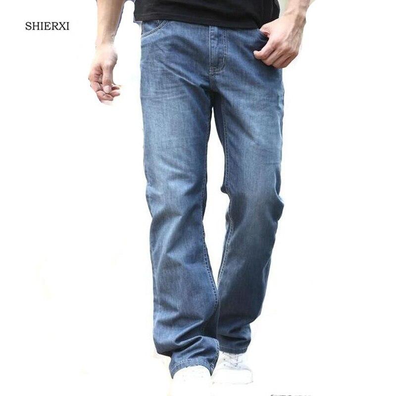 Man jeans Loose Straight Cotton Leisure Men's Jeans Plus Size 29-  48 Fashion Pure Denim Long Trousers new famous brand man jeans cotton fashion leisure man jeans men straight designer jeans casual jeans pant plus size