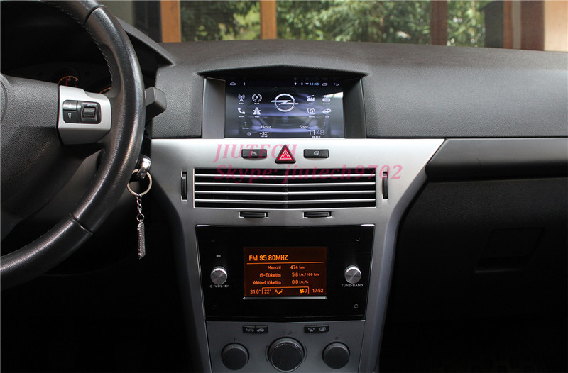 Quad core android 6 0 8 screen car dvd player headunit for Astra h tablet install