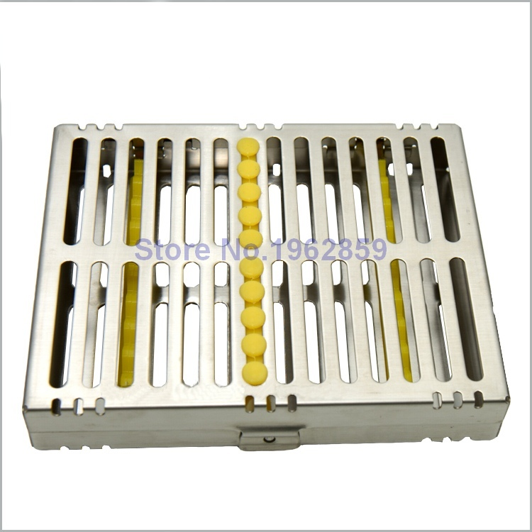 Dental Disinfection Sterilization Brackets Cassette Case Rack Tray Box for 10pcs Surgical Instruments Dental Tools 1pc dental tool implant bur drill sterilization cassette kit organizer box new