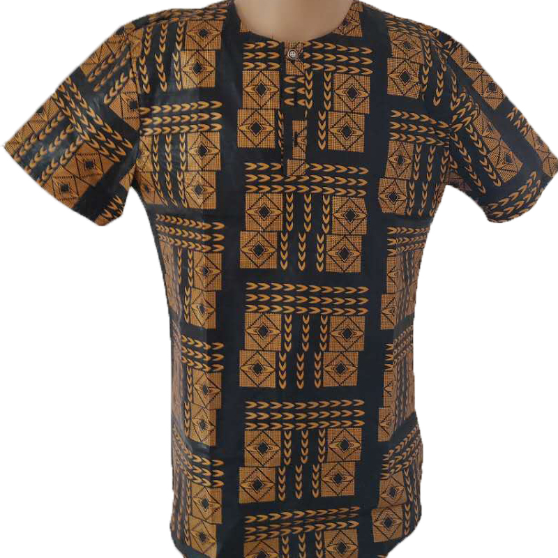MD 2019 African Clothes For Men Plus Size African Print T Shirt Men Short Sleeve Cotton Men's Tops African Fashion Men T Shirts