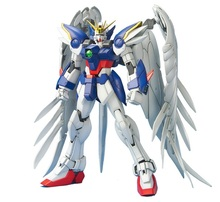 MG 1/100 Wing Gundam Zero Endless Waltz Fighter Assembled Robot
