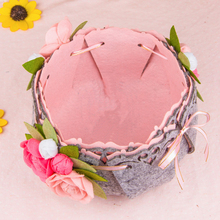Camellia Craft DIY Package Storage Basket Sewing Kit Felt Handwork Material Pack Sundries