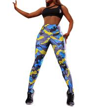 Yfashion Women Multicolor Camouflage Printing Pants Trousers Breathable Elastic Take Exercises Legging Female