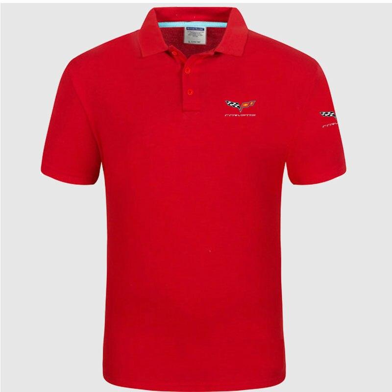High quality logo crocodil Chevrolet corvette logo   Polo   classic brand Men   Polo   Shirt Men Casual solid Short Sleeve cotton   polos