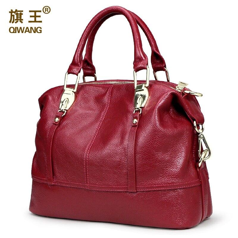 QIWANG Women Practical Bag Handbags Designer Roomy Bag Organized Women Leather Handbags Functional Beautiful Purse