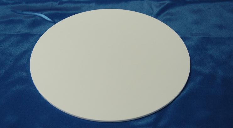 99% Alumina Ceramic Plate , Circular , Insulated , Wear-resisting , diameter=100mm