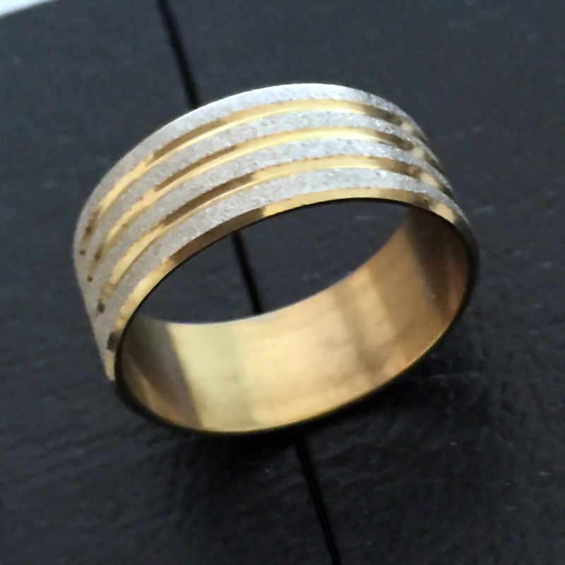1 ชิ้นชายสูง Signet แหวนสแตนเลสจัดงานแต่งงานเจ้าสาวแหวนผู้หญิงผู้ชายเครื่องประดับไม่เคยเลือนหายไป nj32