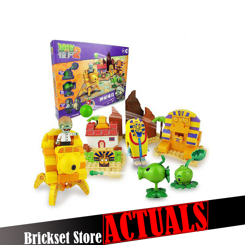 Plants vs Zombies 050302 Mysterious Egypt Building Bricks Blocks anime action figures My world Minecraft Toys for childrenGifts
