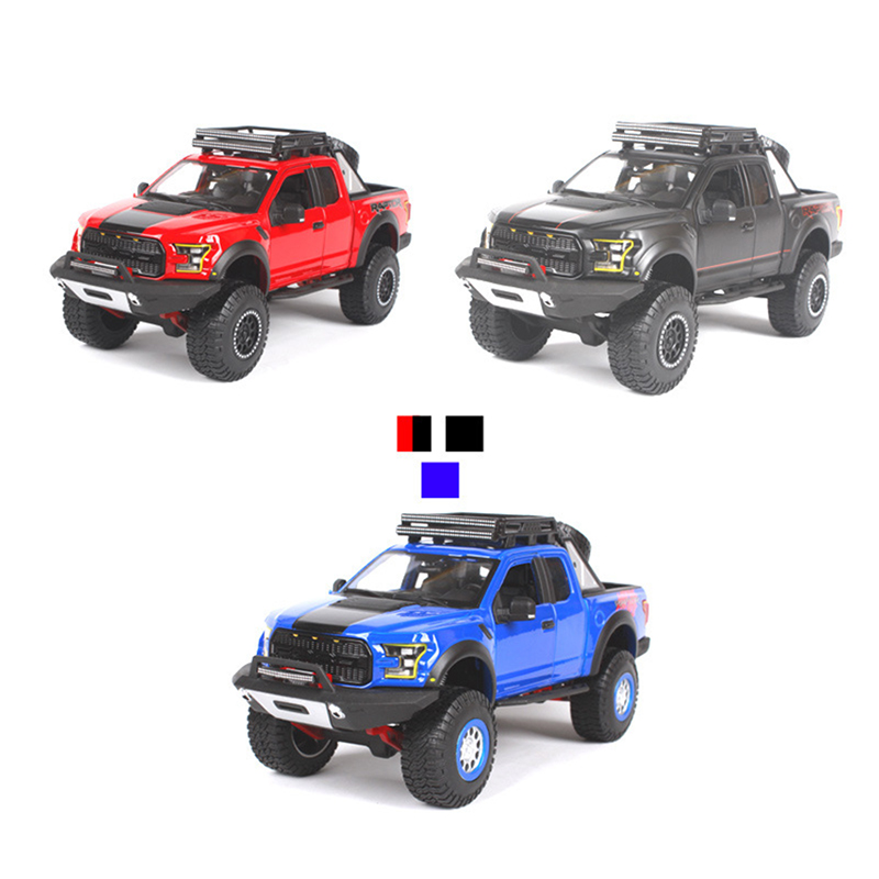 2017 Ford F150 Raptor Mustang Pickup Trucks Models Car 1:24 Alloy Diecast SUV Model Toys Gifts Collections Displays 1 18 scale red jeep wrangler willys alloy diecast model car off road vehicle model toys for children gifts collections