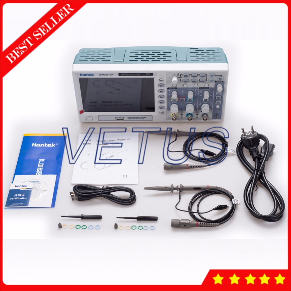 Hantek DSO5072P 70MHz 2Channels Scopemeter USB Digital Storage Oscilloscope Price with automatic measurements function